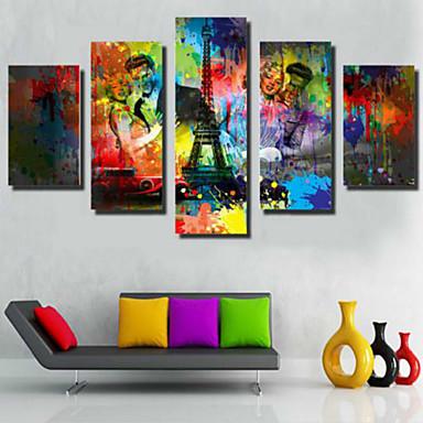 Kunstdrucke Modern,Fünf Panele Horizontal Druck Wand Dekoration For Haus Dekoration