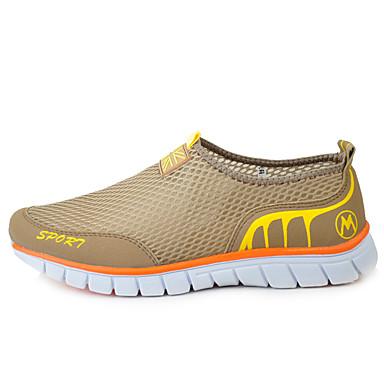Herrn Schuhe Tüll Sommer Leuchtende Sohlen Komfort Loafers & Slip-Ons Walking für Sportlich Alltag Beige Grau