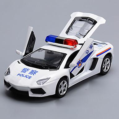 Carros de Brinquedo Brinquedos Modelo de Automóvel Carro de Polícia Brinquedos Liga de Metal cromada Peças Crianças Dom