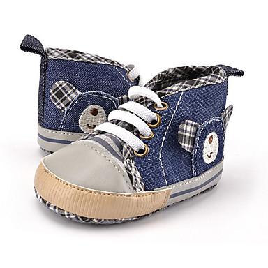 Jungen Schuhe Leinwand Herbst Winter Lauflern Sneakers Tierdruck Schnürsenkel für Kinder Normal Party & Festivität Kleid Blau