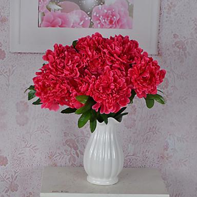 1 haara Muovi Pioonit Pöytäkukka Keinotekoinen Flowers