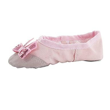 Mulheres Sapatilhas de Balé Sapatilha Interior Laço(s) Sem Salto Não Personalizável Sapatos de Dança Bege / Vermelho / Rosa claro