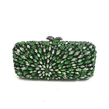 Damen Taschen PU Metall Abendtasche Perlen Verzierung für Veranstaltung / Fest Ganzjährig Grün