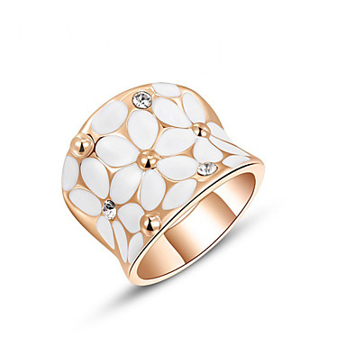 בגדי ריקוד נשים טבעת הצהרה אופנתי סגסוגת תכשיטים חתונה משרד קריירה