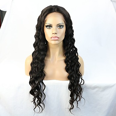 Remy-hius Lace Front Peruukki Kihara 130% / 150% Tiheys Luonnollinen hiusviiva / Afro-amerikkalainen peruukki / 100% käsinsidottu Lyhyt /