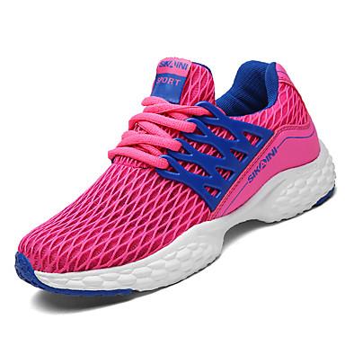 Damen Schuhe PU Frühling Herbst Komfort Sportschuhe Flacher Absatz für Normal Schwarz Rosa