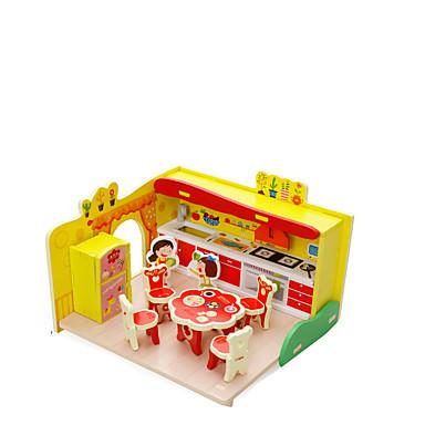 Quebra-Cabeças 3D Casa De madeira Crianças Para Meninas Dom