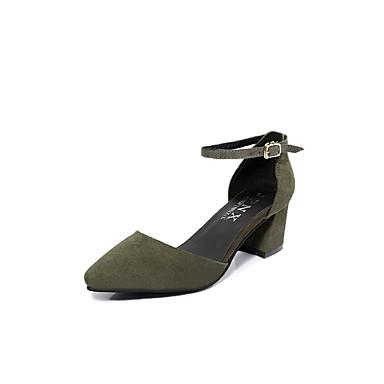 Naiset Kengät PU Kevät Kesä Comfort Sandaalit Tasapohja Käyttötarkoitus Kausaliteetti Musta Maan keltainen Vihreä