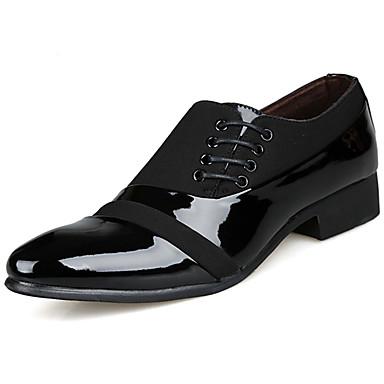 Miesten kengät PU Kevät muodollinen Kengät Oxford-kengät Musta / Juhlakengät