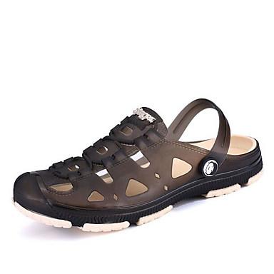 Herren Schuhe Gummi Frühling Loch Schuhe Komfort Sandalen Für Normal Schwarz Braun Blau