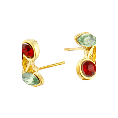 Women's Stud Earrings Crystal Cute Style Alloy Cherry Fruit Jewelry Daily