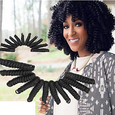 Glamouroso e Dramático 100% cabelo kanekalon Cabelo Sintético 1pc / pacote Tranças Encaracoladas Tranças de cabelo