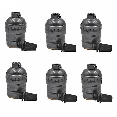 E26 / e27 světelná zásuvka 6 ks kovové pouzdro pro výměnu svítidel nebo svítidel vinobraní průmyslový styl diy projekty bez vypínače a