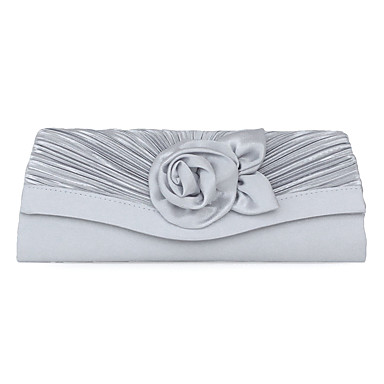 Women's Bags Polyester / Silk / Satin Shoulder Bag Appliques / Ribbon Tie / Lace Black / Silver / Apricot / Wedding Bags