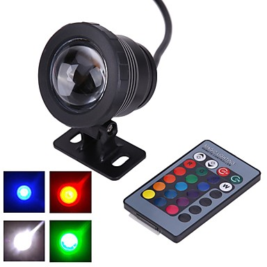 1pc 10 W Underwater Lights Waterproof / Remote Controlled / Decorative RGB 12 V Outdoor Lighting / Courtyard / Garden