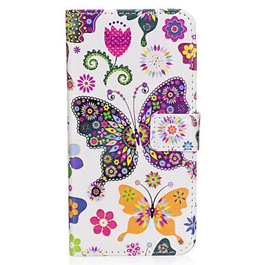 Capinha Para Samsung Galaxy S8 Plus / S8 Carteira / Porta-Cartão / Com Suporte Capa Proteção Completa Borboleta Rígida PU Leather para S8