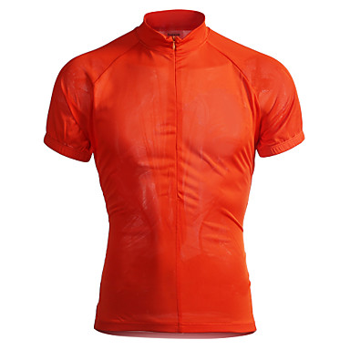 Jaggad Cycling Jersey Men's Short Sleeves Bike Jersey Top Quick Dry Breathable Polyester Elastane Solid Summer Cycling/Bike