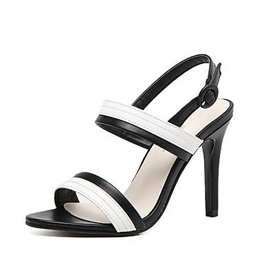 Naiset Kengät PU Kesä Sandaalit Piikkikorko Avokkaat Soljilla Käyttötarkoitus Musta