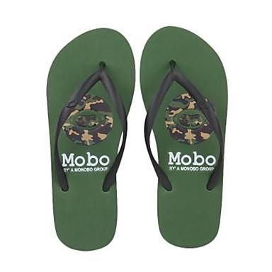 Pánské Boty Guma Jaro Pohodlné Pantofle a Žabky pro Ležérní Armádní zelená Červená Růžová