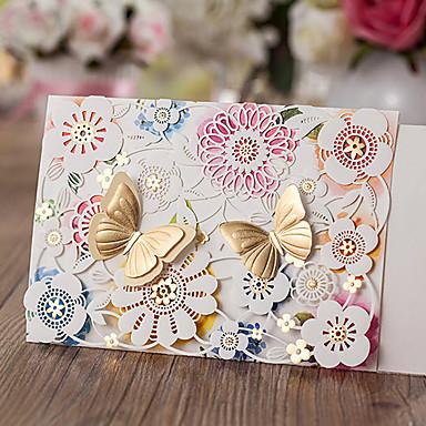 ملفي دعوات الزفاف 50 - أخرى بطاقات الدعوة كلاسيكي مادة أوراق البطاقة زهور