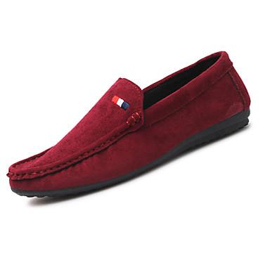 Homens sapatos Couro Ecológico Primavera Outono Conforto Tênis para Casual Preto Cinzento Vermelho Khaki