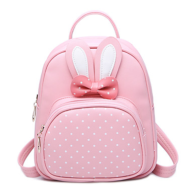 cheap Backpacks-Bags PU(Polyurethane) Backpack Bowknot / MiniSpot Character Blushing Pink / Amethyst / Fuchsia