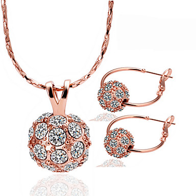 Women's Jewelry Set - Rhinestone, Rose Gold Plated Ball Unique Design Include Gold For Party / Birthday / Business