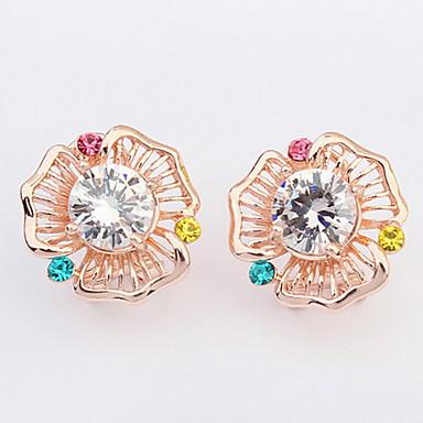 Herrn Damen Kreolen Synthetischer Diamant Basis Sexy Modisch Vintage individualisiert nette Art Euramerican Strass Aleación Kreisform