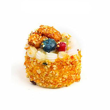 Spielessen Modellbausätze Spielzeuge Kreisförmig Lebensmittel Kuchen Dessert Kindersicherung lebensecht Kunststoff Unisex Stücke