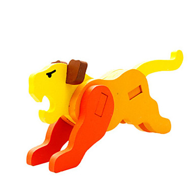 3D puzzle Model dřeva Hračky Tiger Dřevo Unisex Pieces
