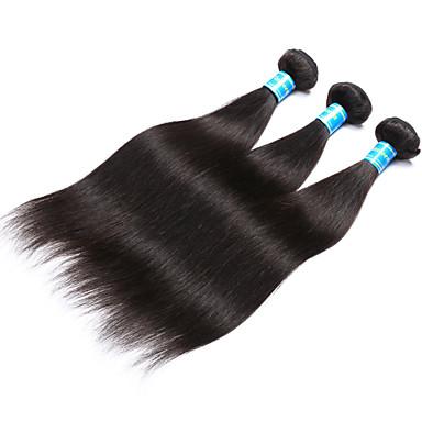 Malaysisches Haar Glatt Menschliches Haar Webarten 3 Stück Menschenhaar spinnt