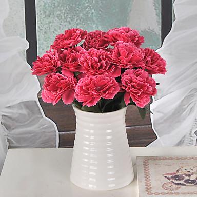 1 haara Muovi Neilikka Pöytäkukka Keinotekoinen Flowers