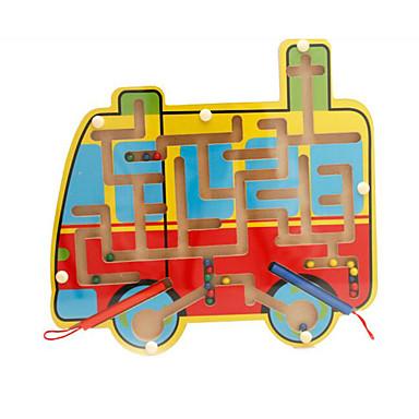 Jogos de Tabuleiro Labirintos Magnéticos Brinquedos Magnética PVC Peças Crianças Dom