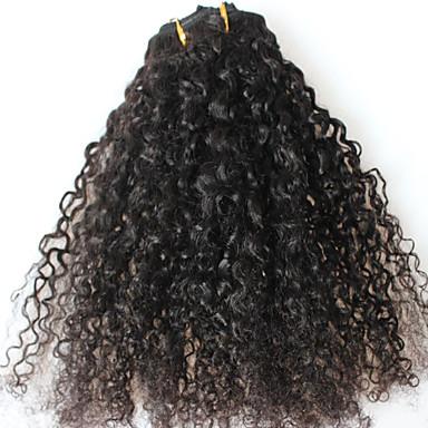 Připínací Rozšíření lidský vlas Afro Kinky Curly 7ks / balení 16 palců 18 palců 20 palců 22 palců 24 palců