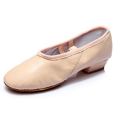 Mulheres Sapatilhas de Balé Courino Têni Salto Robusto Personalizável Sapatos de Dança Preto / Vermelho / Nú / Interior