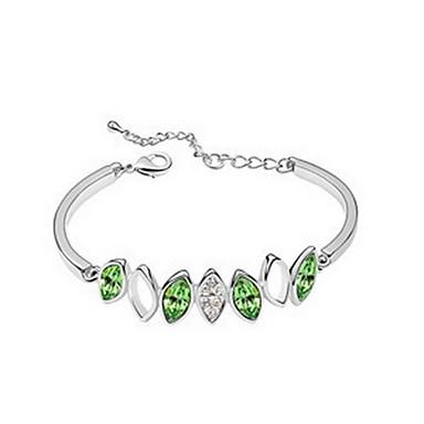 Dámské Řetězové & Ploché Náramky Šperky Vintage příroda Ručně Vyrobeno Módní Křišťál Slitina Oval Shape Šperky Pro Svatební Párty