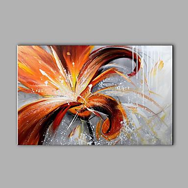 Ručně malované Abstraktní Horizontální,Moderní Jeden panel Hang-malované olejomalba For Home dekorace