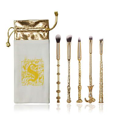 5 Stück Makeup Bürsten Professional Bürsten-Satz- / Lidschatten Pinsel / Lippenpinsel Künstliches Haar / Vliesstoff Gusseisen / Holz