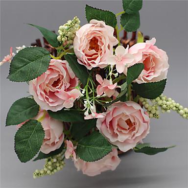 1 Stück 1 Ast Seide Rosen Blumenkorb Künstliche Blumen
