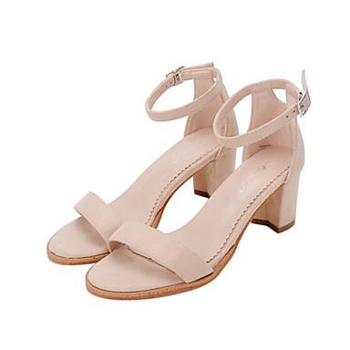 Naiset Kengät Siannahka Kevät Comfort Sandaalit Käyttötarkoitus Kausaliteetti Musta Manteli