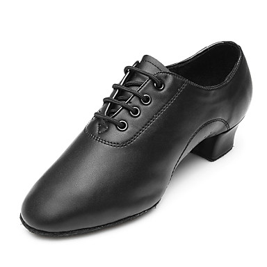 6f34c8a7c Men's Latin Shoes Leather Heel / Sneaker Low Heel Customizable Dance Shoes  Black / Performance
