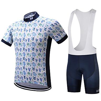 SUREA Herrn Kurzarm Fahrradtrikot mit Trägerhosen Fahhrad Kleidungs-Sets, Rasche Trocknung, Atmungsaktiv, Schweißableitend Coolmax® /