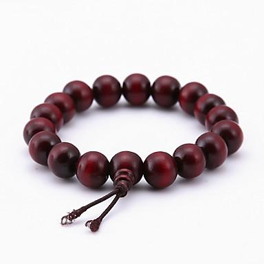 abordables Bracelet-Bracelet à Perles Bracelet perles de Mala Femme En bois Bois Pas cher dames Naturel Mode Bracelet Bijoux Marron Irrégulier pour Occasion spéciale Cadeau