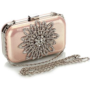 Damen Taschen PU Abendtasche Crystal / Strass für Hochzeit Veranstaltung / Fest Normal Formal Ganzjährig Gold Schwarz