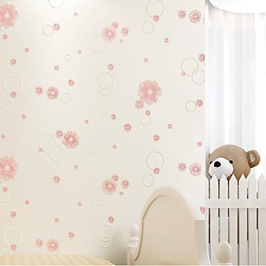 Blumen 3D Haus Dekoration Moderne Wandverkleidung, Nicht-gewebtes Papier Stoff Selbstklebend Tapete, Zimmerwandbespannung