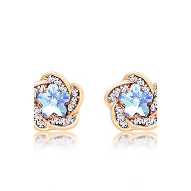 Damen Ohrring - Krystall Personalisiert, Modisch, Euramerican Fuchsia / Grün / Hellblau Für Hochzeit / Party / Jahrestag