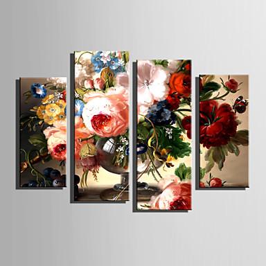 Tela de impressão 4 Painéis Tela de pintura Vertical Estampado Decoração de Parede Decoração para casa