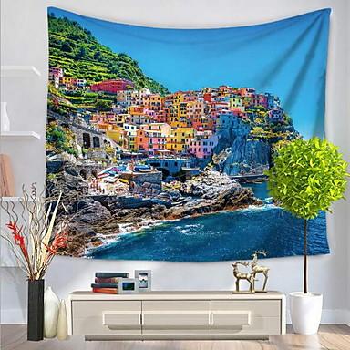 Architektur Wand-Dekor 100% Polyester Moderne Wandkunst, Wandteppiche Dekoration