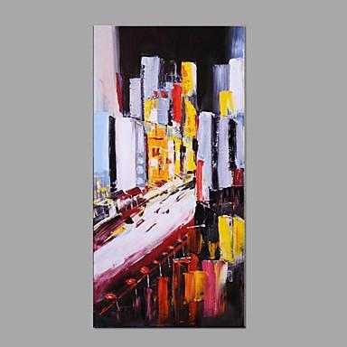 Pintura a Óleo Pintados à mão - Paisagem Abstracto / Moderno / Contemporâneo Tela de pintura