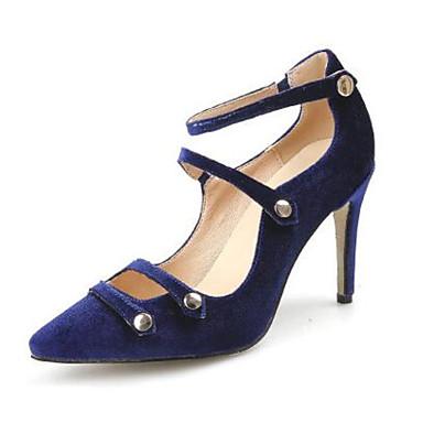 Naisten Kengät Mokkanahka Nahka Kevät Comfort Sandaalit varten Kausaliteetti Musta Laivastosininen Burgundi